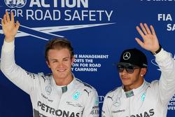 Nico Rosberg, Mercedes AMG F1 Team and Lewis Hamilton, Mercedes AMG F1 Team 08