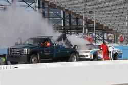 El coche de Brennan Newberry en llamas