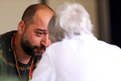 Gerard Lopez, Lotus F1 Teamchef; Bernie Ecclestone (GBR)