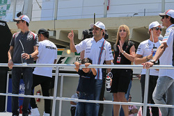 Felipe Massa, Williams and his son Felipinho Massa, on the drivers parade
