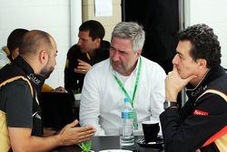 Gerard Lopez, Lotus F1 Team Principal, Federico Gastaldi, Lotus F1, stellvertretender Teamchef