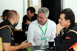 Gerard Lopez, Lotus F1 Team Principal, and Federico Gastaldi, Lotus F1 Team Deputy Team Principal (R