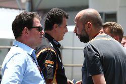 James Allen, Journalist; Gerard Lopez, Lotus F1 Teamchef