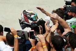 Lewis Hamilton, Mercedes AMG F1 celebra su segundo lugar en parc ferme