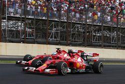 Fernando Alonso, Ferrari F14-T and Kimi Raikkonen