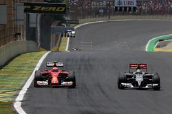 Kimi Raikkonen, Scuderia Ferrari and Esteban Gutierrez, Sauber F1 Team