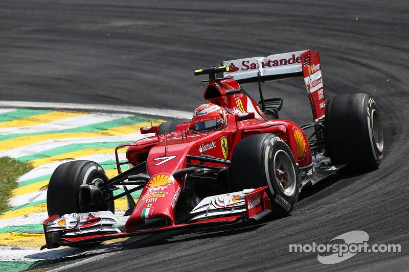 Kimi Raikkonen, Ferrari F14-T at Brazilian GP