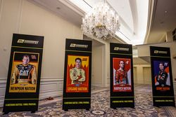 Championship contenders press conference: the banners for the 4 contenders