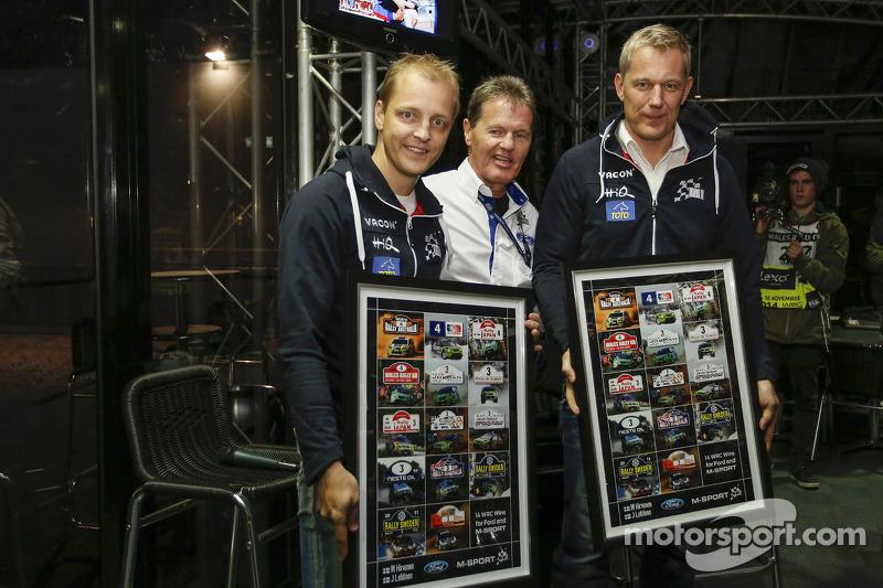 Mikko Hirvonen et Jarmo Lehtinen, M-Sport Ford et Malcolm Wilson