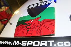 Elfyn Evans, M-Sport Ford Fiesta, detalle