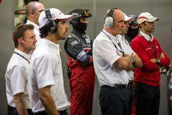 Team Audi kijkt naar de kwalificatie