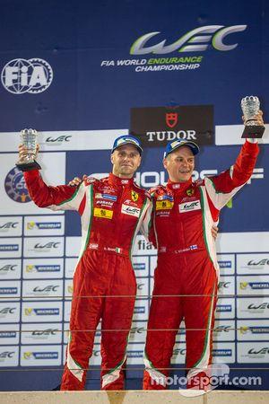 LMGTE Pro winners Gianmaria Bruni and Toni Vilander