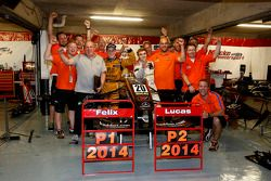 Lucas Auer, Kfzteile24 Mücke Motorsport Dallara F312 Mercedes-HWA e Felix Rosenqvist, Kashbet.com by