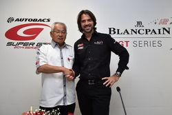 Stéphane Ratel, CEO e fondatore di SRO Motorsports Group con Masaki Bandoh, presidente di GTA