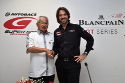 Stéphane Ratel, CEO and founder of SRO Motorsports Group with Masaki Bandoh, chairman of GTA