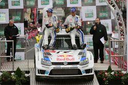 获胜者Sébastien Ogier和Julien Ingrassia, 大众 Polo WRC, 大众车队