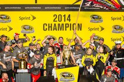 Stewart-Haas Racing Chevrolet team members celebrates