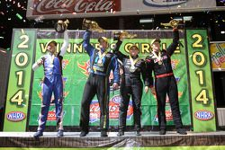 Winners Hector Arana Jr., Erica Enders-Stevesn, Morgan Lucas, Matt Hagan