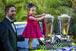 NASCAR Camping World Truck Series champion driver Matt Crafton with his daughter