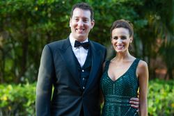 Kyle Busch with wife Samantha