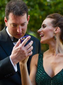 Kyle Busch met vrouw Samantha