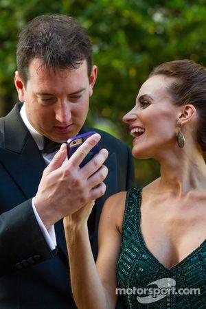 Kyle Busch avec sa femme Samantha