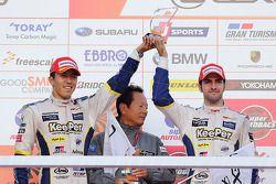 Podium: tweede plaats Daisuke Ito, Andrea Caldarelli
