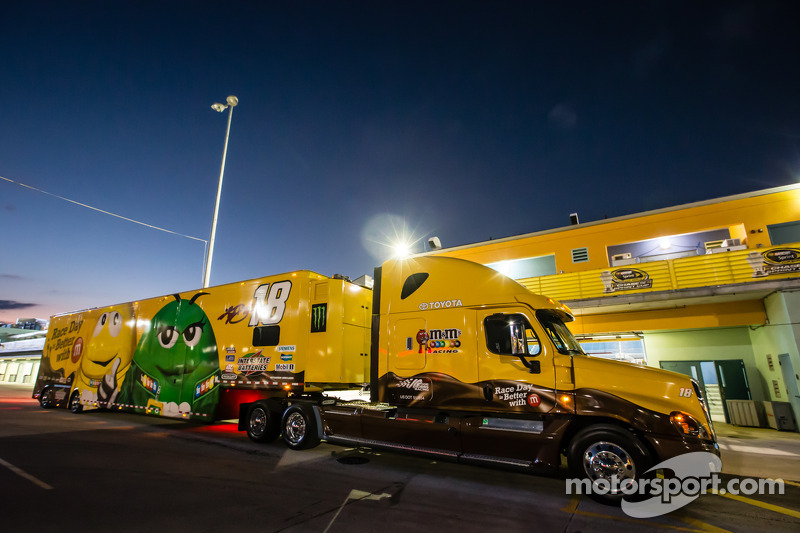 Hauler For Kyle Busch Joe Gibbs Racing Toyota At Homestead