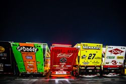 Haulers in the garage area
