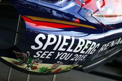 2015 Austrian GP calcomanía de patrocinio en la Scuderia Toro Rosso STR9