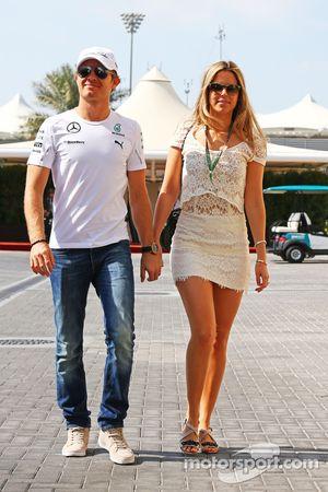 Nico Rosberg, Mercedes AMG F1 con la moglie Vivian Rosberg