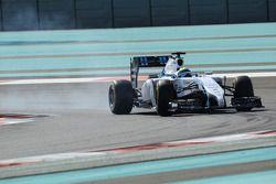 Felipe Massa, Williams FW36 locks up under braking
