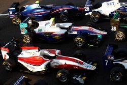 GP3 cars in Parc Ferme
