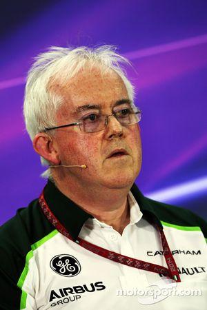 Finbarr O'Connell, Caterham F1 Team Administrator in the FIA Press Conference