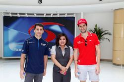 Nicolas Prost, e.dams-Renault et Jaime Alguersuari, Virgin Racing