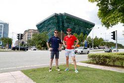 Nicolas Prost, e.dams-Renault and Jaime Alguersuari, Virgin Racing at the Putrajaya Energy Commissio
