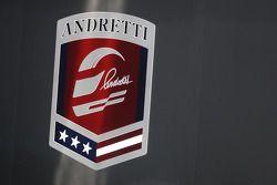 Detalhe do logo da Andretti Autosport