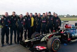 Stunt driver Martin Ivanov and the Lotus F1 Team