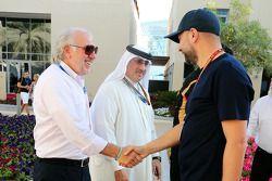 David Richards, Prodrive, Geschäftsführer; Scheich Mohammed bin Essa Al Khalifa; Gerard Lopez, Lotus