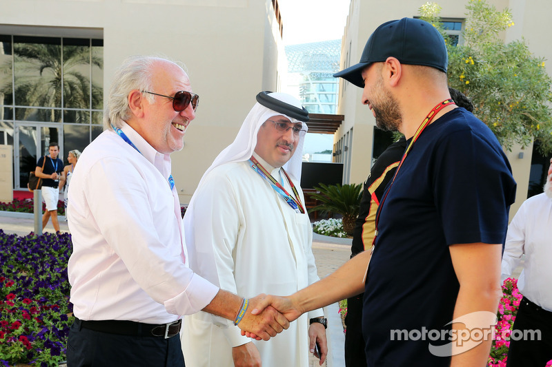 (L to R): Gerard Lopez, Lotus F1 Team Principal with Sheikh Mohammed bin Essa Al Khalifa, CEO of the