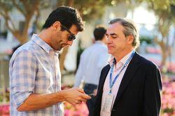 (I a D): Mark Webber, piloto del Porsche Team WEC con Carlos Sainz