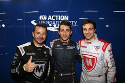 Polesitter Nicolas Prost, second place Oriol Servia and Jérôme d'Ambrosio