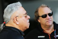 (L to R): Dr. Vijay Mallya, Sahara Force India F1 Team Owner with Robert Fernley, Sahara Force India F1 Team Deputy Team Principal