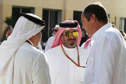 Le Prince Salman bin Hamad Al Khalifa avec Gerhard Berger