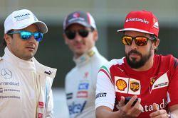 Fernando Alonso, Scuderia Ferrari and Felipe Massa, Williams F1 Team