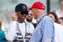 Lewis Hamilton, Mercedes AMG F1 Team and Niki Lauda