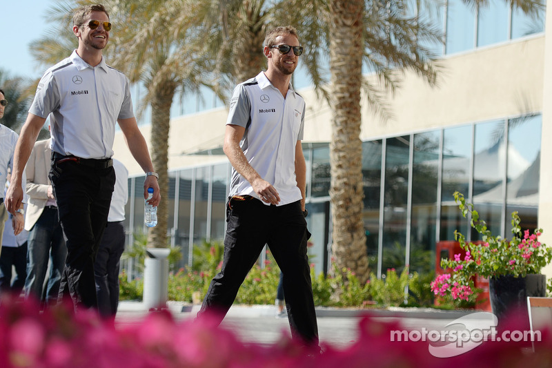 Jenson Button, McLaren con Mike Collier, Personal Trainer