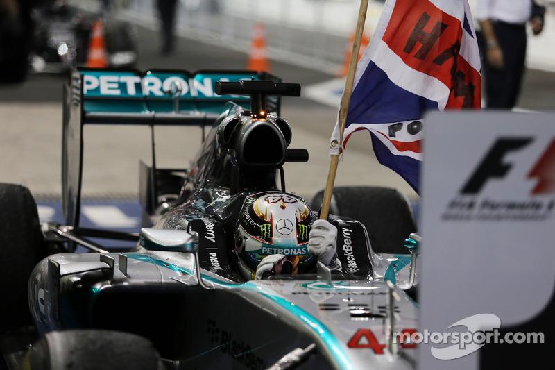 Lewis Hamilton, campeón del mundo de Fórmula 1 del año 2014 con Mercedes