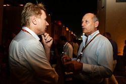 Mika Häkkinen avec Ron Dennis