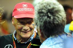 Niki Lauda avec Eddie Jordan
